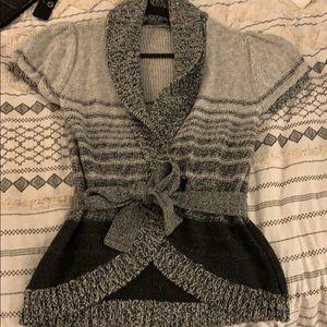 BCBG wrap short sleeve sweater
